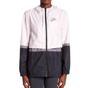 Nike woven wind runner colorblock jacket pink